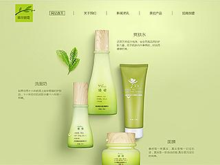 美容护肤网站模板292