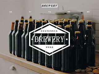 啤酒网站模板1673