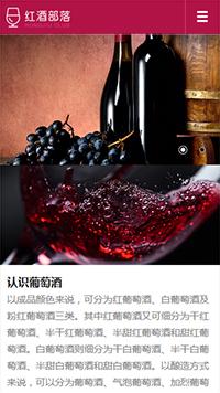 酿造、酒类行业手机网站模板