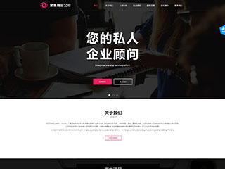 商业公司网站模板2057