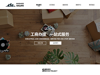 商务网站模板2011