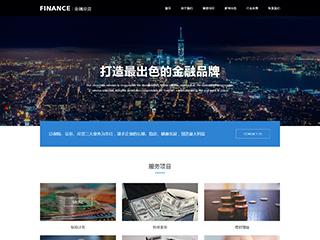 金融投资网站模板2007
