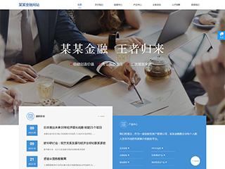 金融投资网站模板787