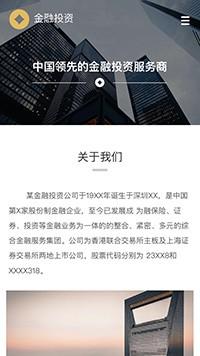 金融、投资行业手机网站模板