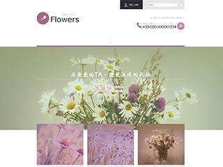 鲜花网站模板816