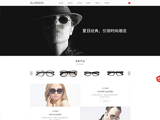 眼镜行业网站模板