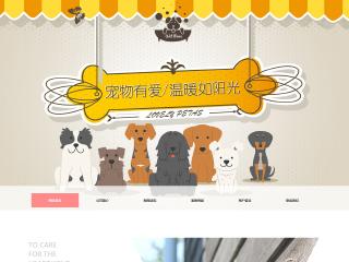 宠物网站模板49