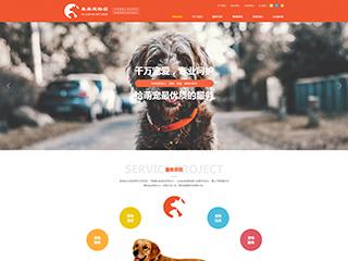 宠物行业电脑+手机+微信网站模板