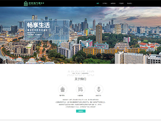 房地产网站模板1236