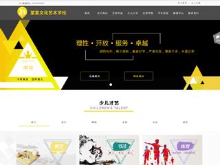 艺术学校网站模板1746