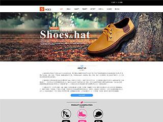 鞋帽行业网站模板