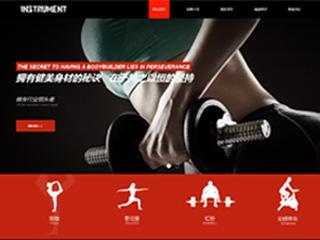 健身器材网站模板1709