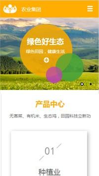 绿色田园手机网站模板 网站建设 网页设计 企业网站定制开发