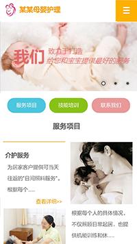 母婴护理网站模板-月嫂公司网站模板-家政公司网站建设-家政网站设计-家政公司网站制作