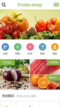 生鲜食品蔬菜水果商城手机网站模板